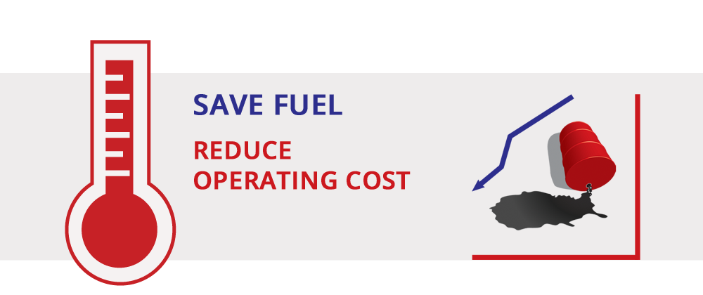 Save fuel with efficient insulation. Reduce operating cost.