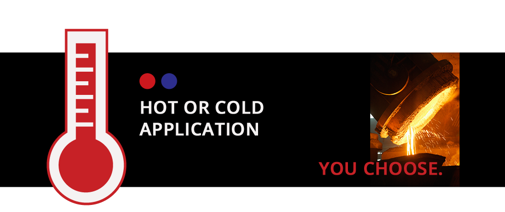 Hot or cold application. You choose.